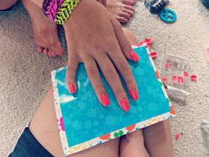 Hot Pink Nails1